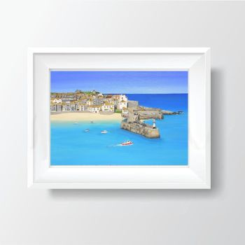 "FINE ART GICLEE PRINT - ""St Ives Harbour"" (PLAIN) From £15"