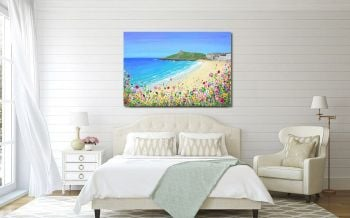 "CANVAS PRINT  - ""Porthmeor Beach, St Ives"" From £55"