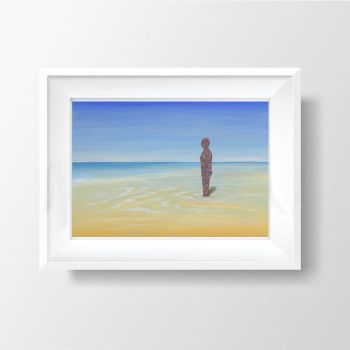 "FINE ART GICLEE PRINT - ""Another Place"" Crosby Beach From £15"