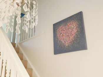 "ORIGINAL ART WORK - ""Home Is Where The Heart Is"" (60x60cm)"