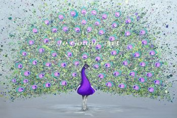 """FINE ART GICLEE PRINT - """"Paisley The Peacock"""" From £15"""