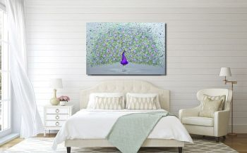 "CANVAS PRINT  - ""Paisley The Peacock"" From £55"