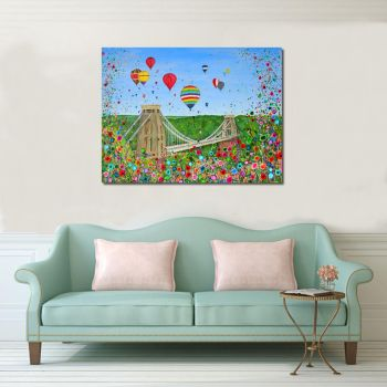 "CANVAS PRINT - ""Bristol Balloon Fiesta"" From £55"