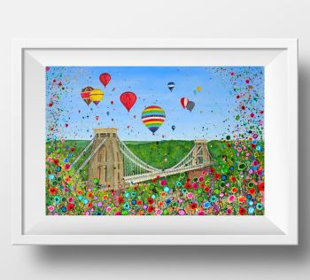 "FINE ART GICLEE PRINT - ""Bristol Balloon Fiesta"" From £15"