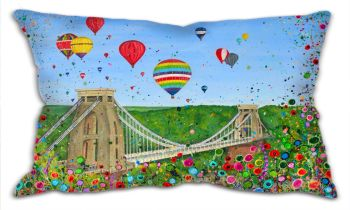 "CUSHION - ""Bristol Balloon Fiesta"" (50x30cm)"