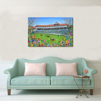 "CANVAS PRINT - ""Chester Racecourse"" From £55"