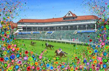 """FINE ART GICLEE PRINT - """"Chester Racecourse"""" From £15"""