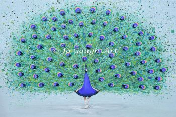 """ORIGINAL ARTWORK - """"Parker The Peacock"""" (80x60cm)"""