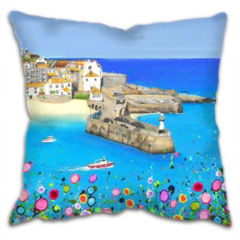 "CUSHION - ""St Ives Harbour"""