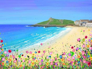 ORIGINAL ART WORK (90x60cm) - Porthmeor Beach, St Ives
