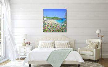 "CANVAS PRINT - ""Porthgwidden Beach"" From £65"
