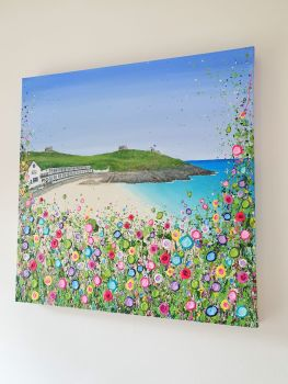 "ORIGINAL ART WORK - ""Porthgwidden Beach"" (60x60cm)"