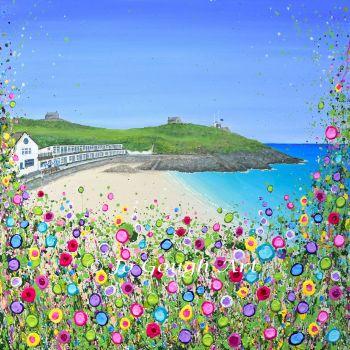 "ORIGINAL ARTWORK - ""Porthgwidden Beach"" (60x60cm)"