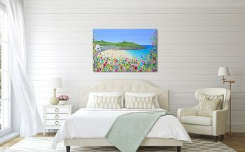 "CANVAS PRINT  - ""Porthgwidden Beach (Rectangle)"" From £55"