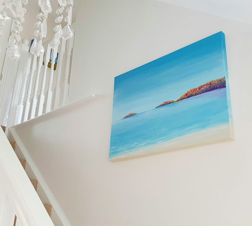 ORIGINAL ART WORK (80x60cm) - Abersoch Islands, North Wales