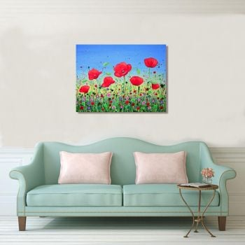 """CANVAS PRINT - """"Dancing Poppies"""" From £55"""