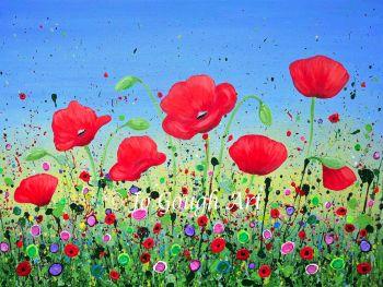 """ORIGINAL ARTWORK (80x60cm) - """"Dancing Poppies"""""""