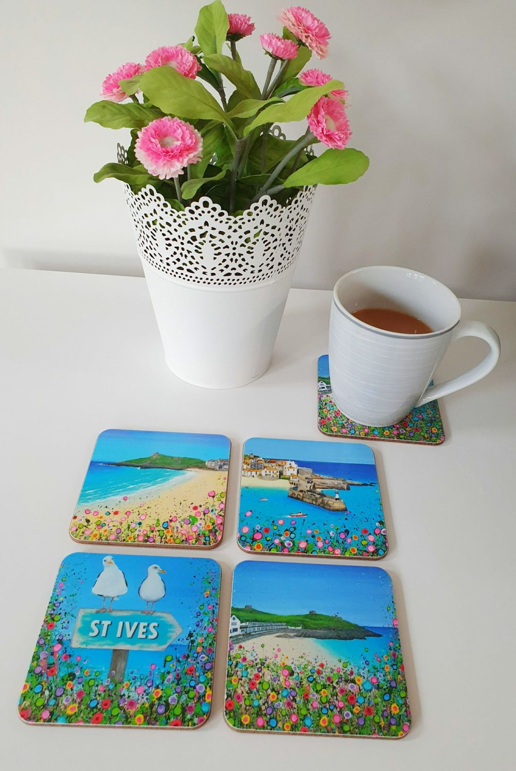 COASTERS - Set of 4 St Ives designs