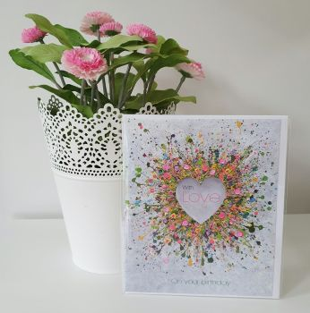 "GREETING CARD - ""You Make Me Happy"""