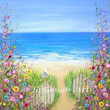 "ORIGINAL ART WORK - ""Lazy Summer Days"" (60x60cm)"