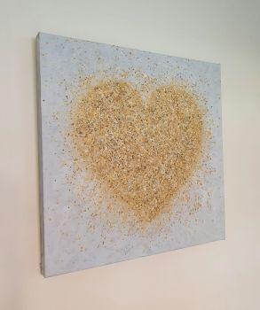 """ORIGINAL ART WORK - """"Heart Of Gold"""" (60x60cm)"""