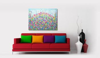 """CANVAS PRINT  - """"Rainbow of Love"""" From £75"""