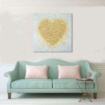"""CANVAS PRINT - """"Heart Of Gold"""" From £65"""