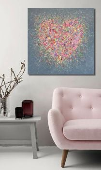 """CANVAS PRINT - """"Home Is Where The Heart Is"""" From £65"""