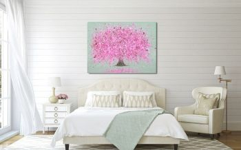 """CANVAS PRINT  - """"Blossoming Love"""" From £55 (Choice of 3 Background Colours)"""