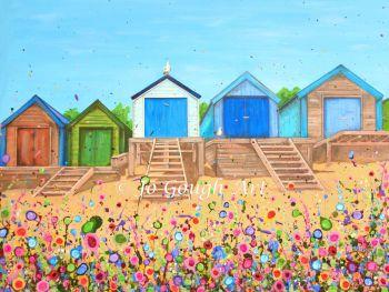 "FINE ART GICLEE PRINT - ""Abersoch Beach Huts"" From £15"