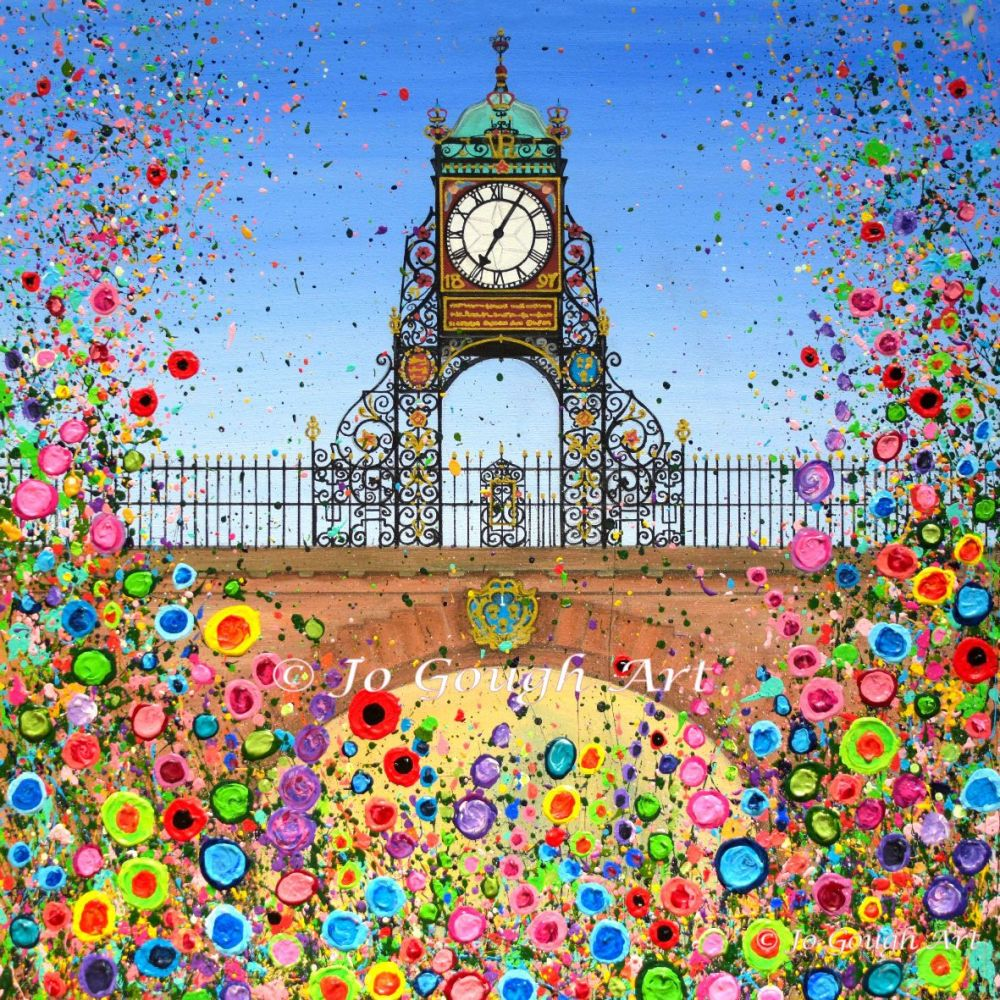 FINE ART GICLEE PRINT - Chester's Eastgate Clock (40X40cm) - 45 Editions
