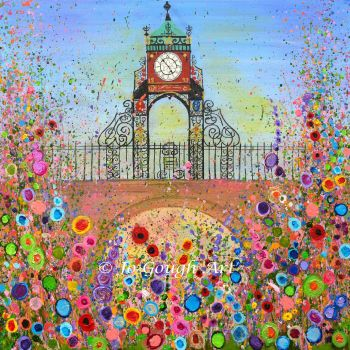 FINE ART GICLEE PRINT - Eastgate Clock, Chester - Version one From £10