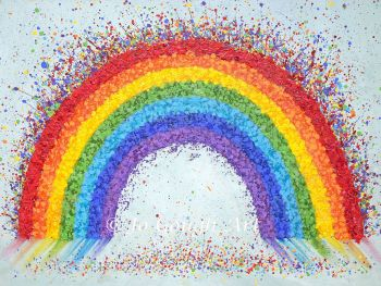 """FINE ART GICLEE PRINT - """"Over The Rainbow"""" From £15"""