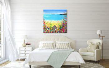 "CANVAS PRINT - ""Abersoch Beach"" From £65"