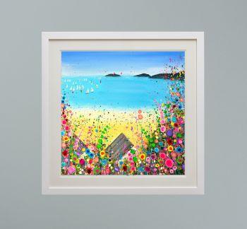 "DUO FRAMED PRINT - ""Abersoch Beach"" FROM  £165"