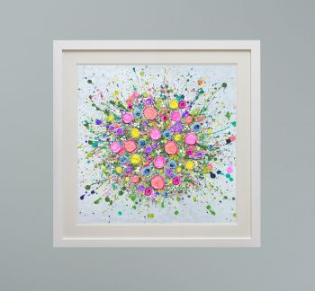 """DUO FRAMED PRINT - """"Love At First Sight (NO VASE)"""" FROM  £165"""