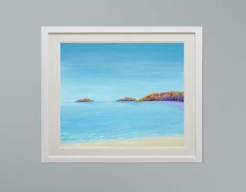 "DUO FRAMED PRINT - ""Abersoch Islands"" FROM £185"