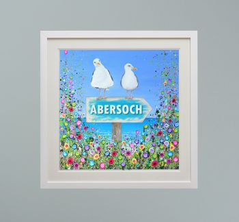 """DUO FRAMED PRINT - """"Abersoch Seagulls"""" FROM  £165"""