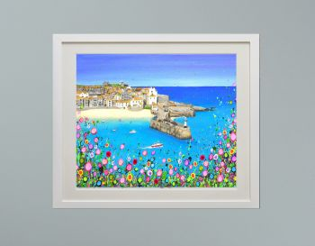 """DUO FRAMED PRINT - """"St Ives Harbour"""" FROM £185"""