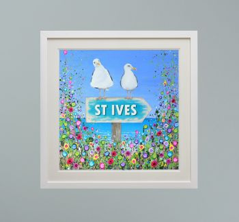 """DUO FRAMED PRINT - """"St Ives Seagulls"""" FROM  £165"""