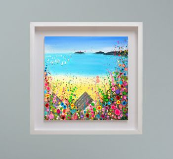 "MIRAGE FRAMED PRINT - ""Abersoch Beach"" FROM  £195"