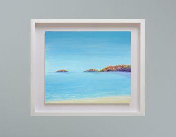 "MIRAGE FRAMED PRINT - ""Abersoch Islands"" (30x24"")"