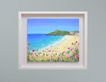 "MIRAGE FRAMED PRINT - ""Porthmeor Beach, St Ives"" (30x24"")"