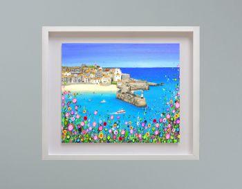 """MIRAGE FRAMED PRINT - """"St Ives Harbour"""" (30x24"""")"""