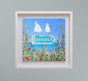 "MIRAGE FRAMED PRINT - ""Abersoch Seagulls"" FROM  £195"