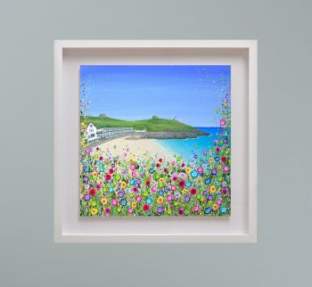 """MIRAGE FRAMED PRINT - """"Porthgwidden Beach, St Ives"""" FROM  £195"""