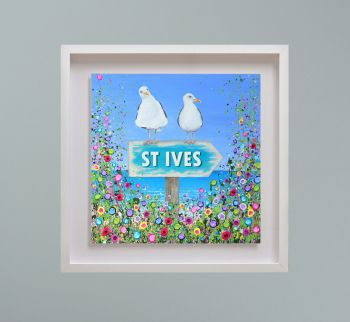 """MIRAGE FRAMED PRINT - """"St Ives Seagulls"""" FROM  £195"""