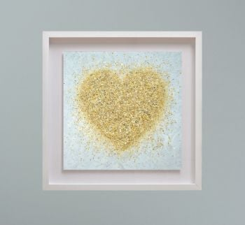 """MIRAGE FRAMED PRINT - """"Heart Of Gold"""" FROM  £195"""