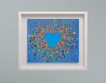 "MIRAGE FRAMED PRINT - ""My Heart Belongs To You"" (30x24"")"