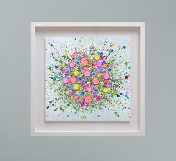 """MIRAGE FRAMED PRINT - """"Love At First Sight (No Vase)"""" FROM  £195"""